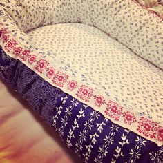 Baby nest for our #2. Inspired by slovak traditional folk print.