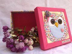 Idea Buo para decorar cajas con telas