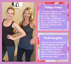 Mothers & daughters Lift*Tone*Burn together at Pure Barre Anaheim Hills!
