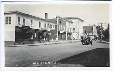 Monson ME Dirt Main Street Vintage Store Fronts Old Car RPPC Real Photo Postcard