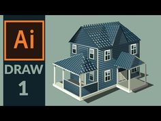 Drawing Production level vector House in adobe illustrator - Step 01- Drawing the basic sketch - YouTube