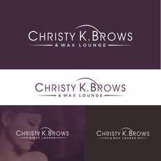 Create an eye catching logo for Christy K. Brows and Wax Lounge. by movist art