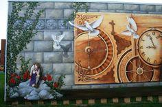 Sophie W i l k i n s -Fresque en hommage au Dr.Aimé Leduc pour les  Caisses  Desjardins de Salaberry-de-Valleyfield 2010
