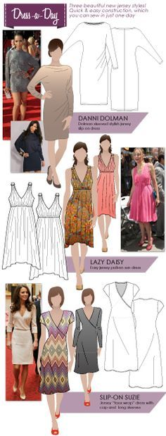 Sew a dress in just ONE day! This makes me want to sew -love the bottom dress! Maybe I'll find the time!