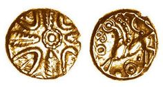Hayling Wreath gold quarter stater, c.50-30 BC - the only other known example is…