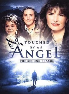 The inspirational CBS television series TOUCHED BY AN ANGEL stars Della Reese and Roma Downey as a pair of celestial beings sent to earth by God to aid people in distress. Disguising themselves as mer