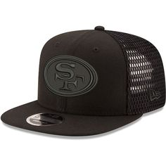 San Francisco 49ers New Era Mesh Fresh Tonal 9FIFTY Adjustable Snapback Hat  - Black 069e2eb7ac7