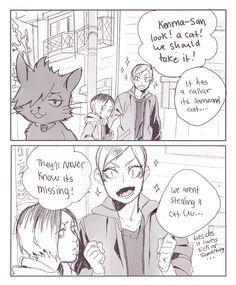#Haikyuu comic Lev & Kenma (Twitter: mookie000)