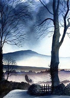 Looking to Roova Crag Ian Scott Massie Prints - The Gallery, Masham enquiry@mashamgallery.co.uk
