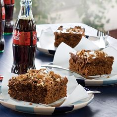 Classic Cola Cake | Our cola cake is simply one of the best in the word. The magical brew of carbonated cola is the secret to the tender texture of the cake and chocolate frosting. | Classic Southern #Recipes | SouthernLiving.com