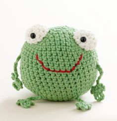 Free Crochet Pattern: Toy Frog  Lion Brand® Martha Stewart CraftsTM/MC Cotton Hemp  Pattern #: L10251