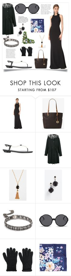"""Jan special"" by alyssa-loosy ❤ liked on Polyvore featuring Notte by Marchesa, Liska, Gas Bijoux, Oscar de la Renta, Kendra Scott, Linda Farrow, Armani Jeans and Salvatore Ferragamo"
