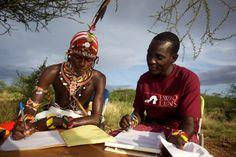 Yeselai and Ngila - Samburu warriors as ambassadors for lion conservation in Kenya