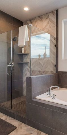 Bathroom remodel ideas - Our gallery showcases bathroom remodeling ideas. From full master bathroom renovations, smaller sized visitor bathroom remodels, and bathroom remodels of all sizes. Bathroom Renos, Bathroom Renovations, Bathroom Interior, Modern Bathroom, Bathroom Ideas, Bathroom Designs, Brown Bathroom, Bathroom Makeovers, Bathroom Mirrors