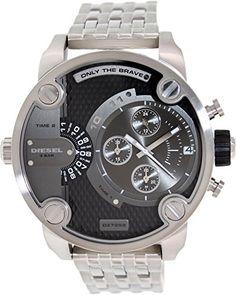 Awesome Diesel SBA Dual Time Zone Stainless Steel Men's Watch – DZ7259  –  Kardashian