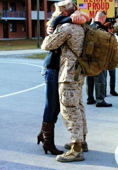 to marry a man going into the military would be the hardest thing to go through, but to know the man you love is serving your country is one of the greatest accomplishments <3