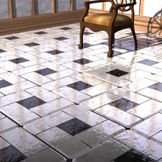This is only for Daz 4, in .duf format. Tested in Daz 4.6 Pro.5 metre square floors with 8x8, 16x16 or 32x32 tiles all with separate grout and 3d surface to re-texture as you wish.This starter pack gives you 10 tiles in different finishes for each of the tile sizes, with more to follow.Download, unzip to a folder of your choice then copy or move the My Library folder into your Studio folder.My files point to - :My Library:props:3D Tile Floor::My…