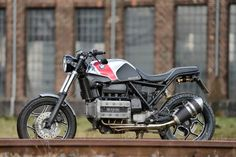 That exhaust header is just beautiful. BMW K100 by Cafemoto.