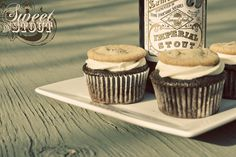Put a cookie on it. (Double chocolate chip cookie cupcakes made with Samuel Smith's Imperial Stout)