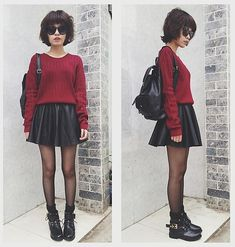 If you don't own a leather skirt, you're nothing!   Jk but they do pop up everywhere :P  Women's fall winter fashion 2013 2014