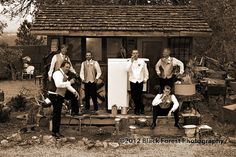 Unique, fun, and cool wedding photography ideas for Colorado Springs, Denver, and the Rocky Mountains. This of the Groomsmen at Hillside Gardens in Colorado Springs, Colorado. Wedding Photography by Black Forest Photography http://www.blackforestphoto.com #HillsideGardensWeddings #ColoradoWeddings
