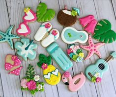 "Pool party theme cookies - Pool party theme cookies ""Pool party theme cookies You are in the right place about trends videos - Pool Party Themes, Pool Party Kids, Pool Party Decorations, Royal Icing Decorations, Summer Pool Party, Party Ideas, Summer Beach, Beach Party Invitations, 1st Birthday Party Invitations"