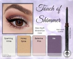 Love this purple and pink eye look so much! #TouchOfShimmer <3 www.marykay.com/sstojanovski 714-328-0045