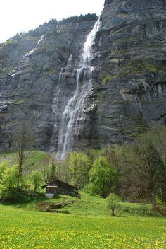 Waterfall near Murren, Switzerland