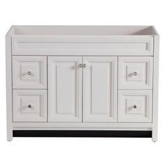 Crafted with quality and detailing, the Brinkhill Collection will add charm to your bathroom. This 48 in. vanity features 4 large drawers on full e...
