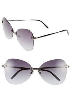 495cb7ac1d7 Wildfox  Madame  65mm Rimless Butterfly Sunglasses