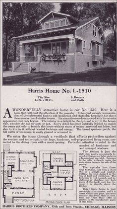 if you flip this, it reminds me of my late grandparents house.. 1918 Harris Bros. Co. - Plan No. L-1510