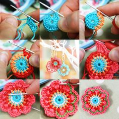 Meet Kate from Flourish and Fly – creator of gorgeous crochet jewellery and decorations Crochet Jewelry Patterns, Crochet Accessories, Crochet Jewellery, Crochet Earrings, Form Crochet, Cute Crochet, Crochet Lace, Fibre And Fabric, Yarn Bombing