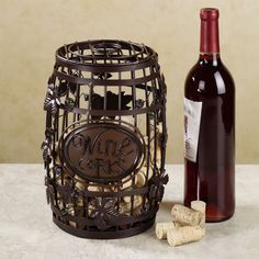 The ideal gift for a sentimental wine lover, the Wine Barrel Cork Cage(R) is a fun and clever accent that lets you easily recall favorite vintages. From Touch of Class