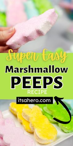 Copycat Marshmallow Peeps Recipe — Super Easy Peeps Recipes, Fruit Recipes, Easter Recipes, Easter Snacks, Easter Food, Marshmallow Peeps, Copycat, Favorite Holiday, Super Easy