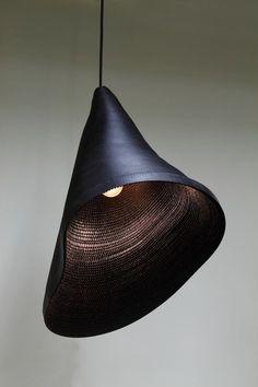 hyungshin hwang is a korean designer based in seoul; 'cardboard light series'