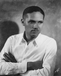 """Opera singer Todd Duncan in 1930, photographed by Addison Scurlock. In 1935, Mr. Duncan was selected by George Gershwin to originate the role of Porgy in """"Porgy and Bess"""" and in 1955, he was the first person to record the now classic song, """"Unchained Melody."""" Mr. Duncan earned a bachelor's degree at Butler University in 1925, and a master's at Columbia University Teachers College in 1930. He later taught voice at Howard University, well into his 90's, for over fifty years."""