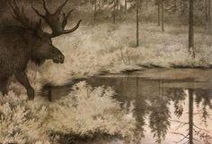 Theodor Kittelsen: jeg gå til skjulte kilder og tjern, I go to the hidden springs and ponds.