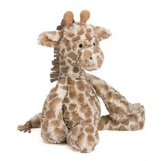 Dapple Giraffe has the softest, deepest fur, and it's covered in beautiful, biscuity blots. She loves exploring and playing outside - maybe that's how she got h