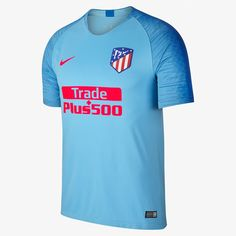 18-19 Atletico Madrid Away Blue Soccer Jersey Shirt 26e1f8d63