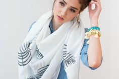 Palm Leaf Scarf