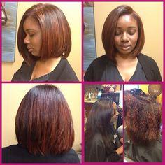 Natural hair trimmed than turned into beautiful Bob Natural Hair Cuts, Natural Hair Styles, Short Hair Styles, Sleek Hairstyles, Down Hairstyles, Bob Hairstyle, Diy Hair Treatment, Best Hair Straightener, Hair Trim