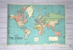 New ikea premiar world map picture with framecanvas large 55 x 78 i havent been everywhere but its on my list hand lettered by our artist gumiabroncs Choice Image