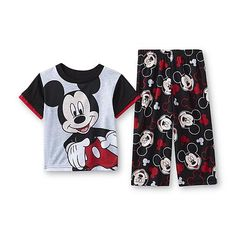 Disney Baby Mickey Mouse Infant & Toddler Boy's Pajama Shirt & Pants Astrid size 3T