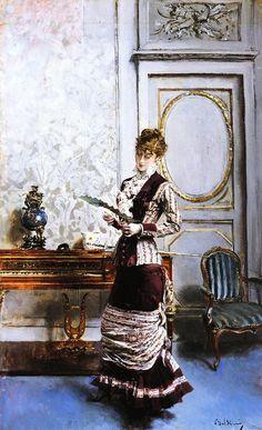 Giovanni Boldini - A Lady Admiring a Fan (by irinaraquel)