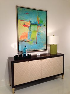 2012 Fall Market Trend: Chanel-inspired quilted leather media console w/solid brass feet & hardware by Lexington 1300 National Highway, Thomasville, NC #hpmkt #stylespotters