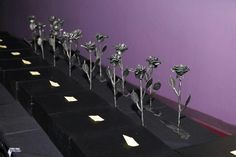 Roses made from missiles launched into Israel.