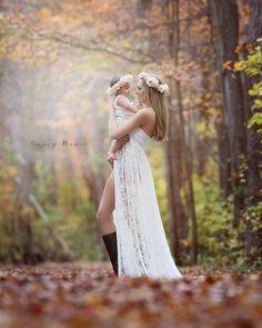 Tiffany Gown / Lace split front Maternity dress / Maternity Gown / Maxi Dress/ Senior photo shoot/ Bridesmaid dress