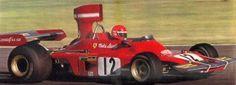 Niki Lauda Ferrari 312B3 . .  1974 South American Grand Prixs configuration.