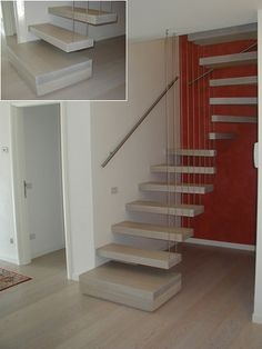 scala con cavi Stairs, House, Home Decor, Houses, Trendy Tree, Stairway, Decoration Home, Home, Room Decor