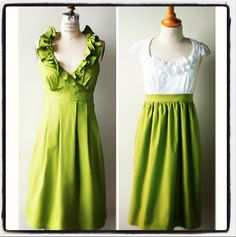 Green Bridesmaids Dresses by Amanda Archer Collection
